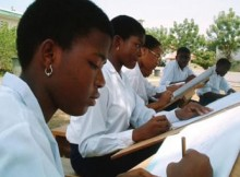 Nigerian students studying
